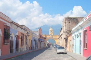 The colonial city of Antigua, Guatemala