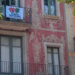 Building detail, La Rambla, Barcelona